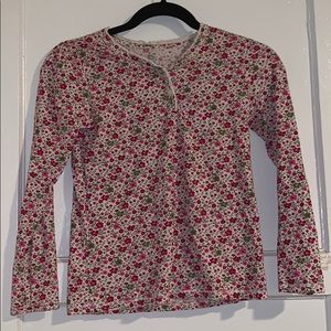 1989 Place floral girls long sleeve shirt size L